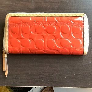 Coach Bags - Coach Peyton Zip around Patent Leather Wallet